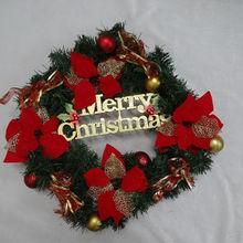 decorative PVC artificial christmas wreath/garland fashion xmas festival ornament