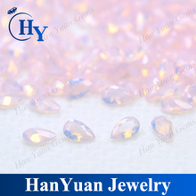 New style pink pear cut synthetic nano gemstone