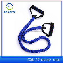 Nylon Covered Resistance Bands , Fitness Exercise Workout Resistance Tubes for Crossfit Gym