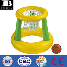 promotional custom made inflatable basketball cage soft water floating basketball cage portable water toys sports cage