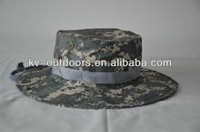 militar acu de ala ancha cubo de camping caza boonie sombrero de camuflaje