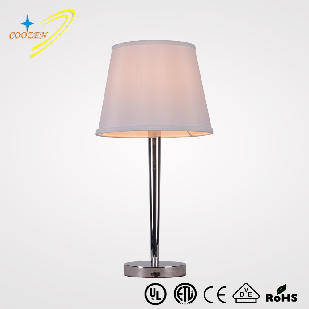 Gz60011 1t metal table lamp bedside hotel table lamp with for Bedside table lamp shades