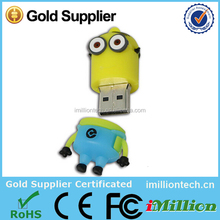 High quality free sample low price wholesale despicable me minion usb flash drive