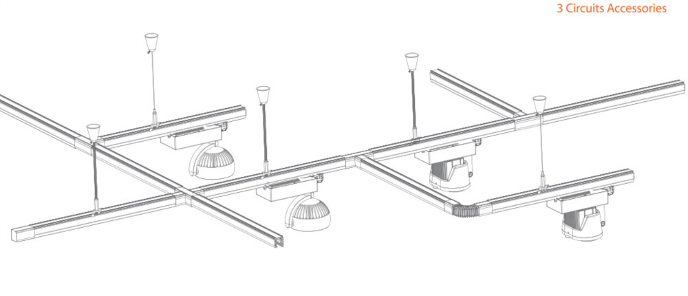 Led commercial lighting track rail accessorysingle phase track hf4293dl44fibyftymg aloadofball Image collections