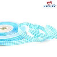 High quality tartan ribbon blue plaid cheap price trimmings for fashion dresses