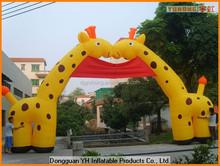 lovely oxford giraffe inflatable custom entrance arch