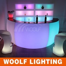 RGB Color Changing LED Illuminated Bar Nightclub Furnishing