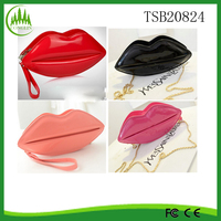 New Arrival Women's Lady purse handbag Evening Party Red Lips Clutch Bags Chain shoulder bag