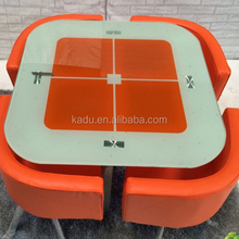Round fashionable tempered glass table New dining table