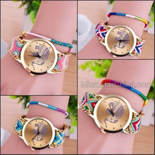 2015 Fashionable Handmade Friendship Wrist Bracelet Watch