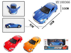 13*6*3.5 cm die cast car with IC light and music door can be opened 3 colors car