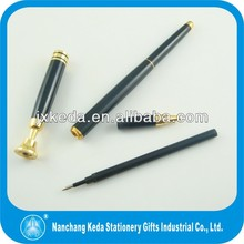 2014 Black Promotional metal desk stand pens with mounting screw