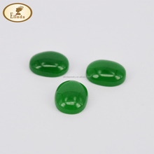 green Stone flated loose gems flat back stone cabochon