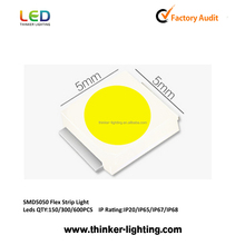 150*SMD5050 36W 440-480Lm 12V Brightness Dimming Cuttable LED Strip Light, IP65, IP66,IP67, UL certified, 5Years