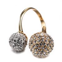 Treasure Factory yiwu diamond ball ring latest design wholesale classic fashion adjustable diamond ball ring