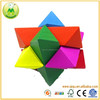 2015 Latest Design High IQ Colorful Puzzle Wooden Cube Brain Teaser