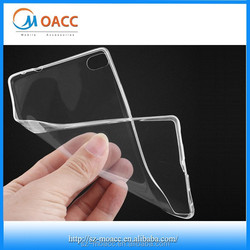 0.3mm ultra-thin Crystal clear tpu case For Huawei Ascend P8