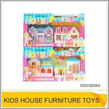 Plastic mini doll house furniture play set toy for kids OC0162053