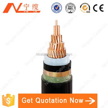 600/1000V low voltage copper conductor XLPE Insulation CU/XLPE/STA/PVC Armored DC Power Cable
