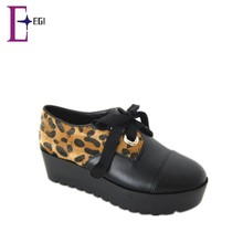 leopard print women platform casual shoes made in china alibaba
