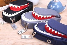 Top quality Shark Style Kids Pencil Case For Boys Pouch Bag Student Pen Box For Primary School Bag Accessory
