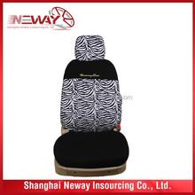 Zebra print car seat cover/ Animal print car seat cover