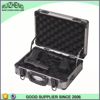 Custom fashion high quality vintage genuine leather gun case
