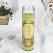 Candela religioso in vaso di vetro, ingrosso <span class=keywords><strong>chiesa</strong></span> candela in barattolo di vetro