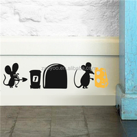 ZOOYOO mouse cheese arrow wall decorations removable wall tile stickers handmade house paintings (387)