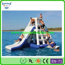 2015 Enjoy large inflatable water pool toys,inflatable pool float,inflatable pool slide with climbing wall