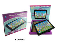 English and Spanish language Learning Machine of educational toy for Kids