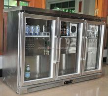 Counter top mini bar glass door fridge/ bar refrigerator