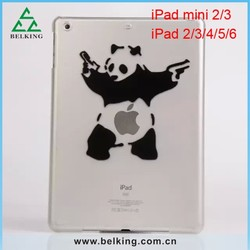 Ultra Thin Transparent Plastic Case For iPad Mini, For iPad Mini Tablet Clear PC Cartoon Case