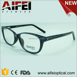 Female classic and fashion brushed wooden CP injection optical frame wholesale in miami