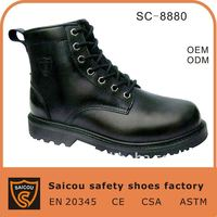 Guangzhou steel toe military rubber boots factory (SC-8880)