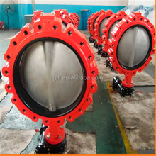 dn500 ductile iron body Butterfly Valves with epdm seat double half shaft without pin