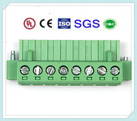 High Quality PCB Terminal Block Connector with Flange 5.0mm/5.08mm Pitch 300V, 15A XS2ESDA