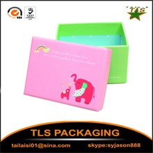 High quality customized cardboard paper baby shoe box