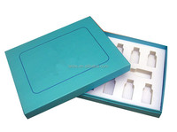 Cosmetics packaging gift boxes with foam insert for small bottles packaging