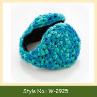 W-2925 custom crochet earmuffs ear warmers hand knit ear muffs knitted heated earmuffs