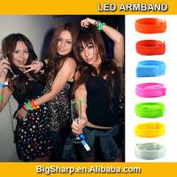 100pc Colorful 3mode flash light-up reflective vocal concert led wristband bracelet Pub bar evening live show night live AB-2004
