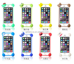 hot new style best sell colorful cartoon bumper case universal silicone shakeproof bumper mobile cover