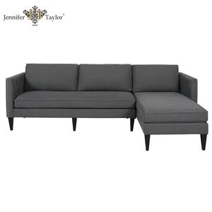 Max hogar muebles en Forma de L Gris Tela Sofá Seccional