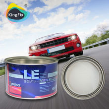 Yellow body filler with red hardener &light weight &good adhesion