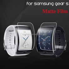 2015 New product Axidi high adhesive strength ultra-thin anti-fingerprint clear matte screen protector for Samsung Gear S watch