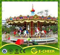 Theme park equipment luxury carousel children luxury carousel interesting amusement park playground carousel ride