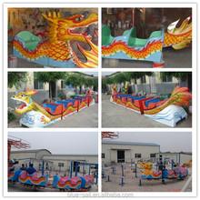 Rail amusement equipment of green worm pulley roller coaster children amusement equipment dragon series