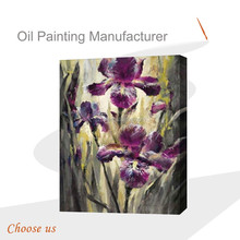 Modern purple flower painting/ modern flower picture / flower photos on canvas