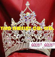 customized rhinestone bride pageant crown shaped wedding band tiaras