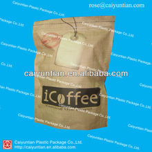 ziplock aluminum foil coffee bag for coffee packaging/plastic bag for special coffee